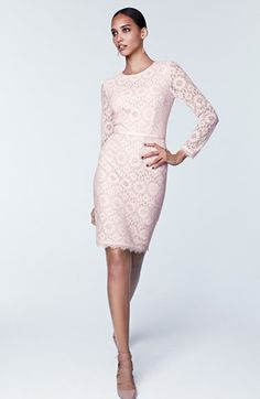 Maggy london dress long-sleeve illusion lace belted maternity