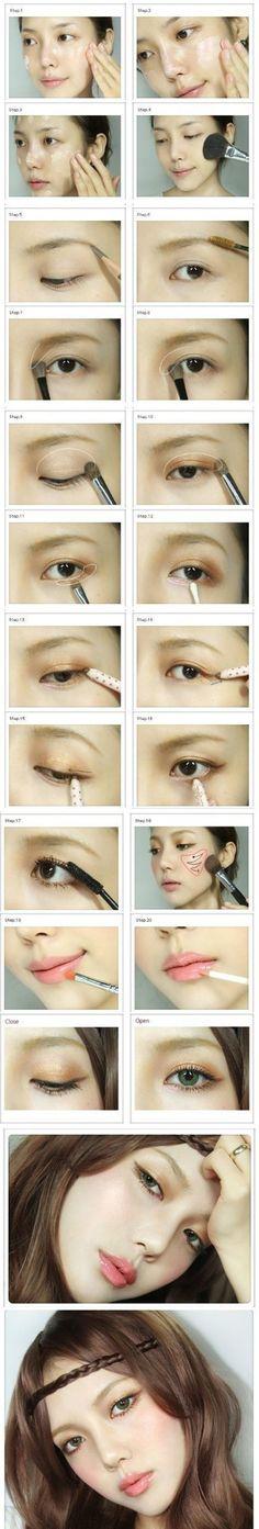 vintagemermaid.com    contouring makeup.
