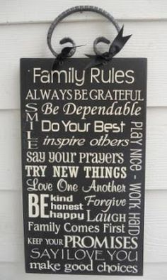 family signs