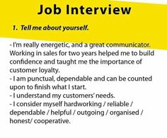 Job interview tell me about yourself Job Interview Answers, Job Interview Preparation, Interview Skills, Job Interview Tips, Job Interviews, Interview Techniques, Job Resume, Resume Tips, Resume Ideas