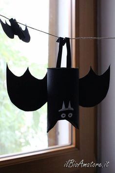 ECO-Pipistrelli di Halloween #halloweencrafts