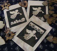 Pohladnicovo / Vianočná pohľadnica s papierovým výrezom