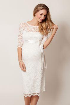 prachtige trouwjurk voor zwangere dames!