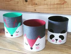 DIY, Beautiful and Ingenious Ideas Painted Tin Cans, Painted Clay Pots, Paint Cans, Tin Can Crafts, Crafts For Kids, Arts And Crafts, Creative Play, Creative Crafts, Rabbit Shop