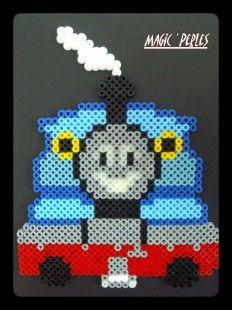 Thomas train hama perler (goes to a site seller Perler stuff) Perler Bead Designs, Hama Beads Design, Pearler Bead Patterns, Perler Bead Art, Pearler Beads, Fuse Beads, Cartoon Network, Melting Beads, Thomas The Train