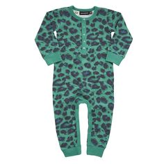 Green+Leopard+Playsuit
