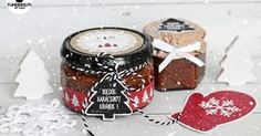 Ez volt az első dolog, amit felírtam az idei  gasztroajándék listámra! Tesóm, Szofika receptjét használtam, és remekül bevált! Visz... Homemade Christmas Gifts, Homemade Gifts, Diy Gifts, Christmas Time, Xmas, Candle Jars, Candles, Vegan Desserts, Diy And Crafts