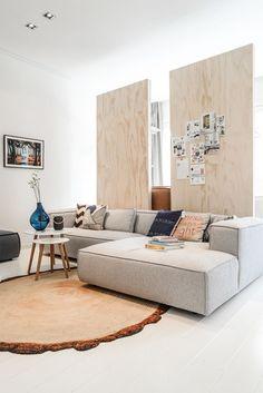 50 Sofás com Chaise em Salas de Estar - Fotos