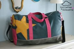 Sac Boston cousu par Paillettes & Bobinette
