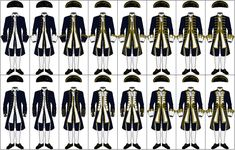 Uniforms of the Royal Navy, These are the uniforms worn by the Royal Navy, from their introduction to the service in 1748 through the Seven Ye. Uniforms of the Royal Navy, Us Navy Uniforms, British Uniforms, Royal Navy Uniform, Navy Medals, Captain Amelia, Navy Costume, Master And Commander, Military Armor, 1800s Fashion