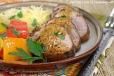 "<p><strong><a href=""http://www.fortheloveofcooking.net/2015/08/pan-roasted-pork-tenderloin.html"">SEE RECIPE HERE: Pan Roasted Pork Tenderloin</a></strong></p>"