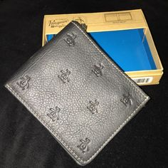 ORIGINAL PENGUIN BLACK BIFOLD LEATHER WALLET PENGUIN MOTIF - NEW* #Penguin #Bifold