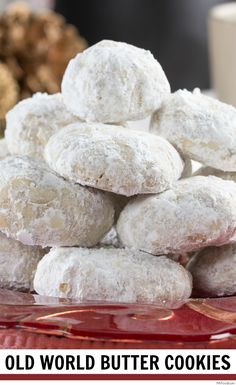 It seems like everyone has their own way to make these special butter cookies that are coated in powdered sugar. Check out our version, Old World Butter Cookies, and you'll know why we make this recipe every holiday. Holiday Cookie Recipes, Holiday Foods, Holiday Cookies, Columbian Recipes, Christmas Deserts, Christmas Cookie Exchange, Peruvian Recipes, Christmas Cooking, World Recipes