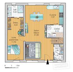 Plan habillé  - maison - Co-concevoir sa maison