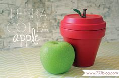 Terra Cotta Apple by @room N°7 thirty three - - - a creative blog #Michaelsbts