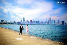 Chicago Skyline : Chicago Wedding Photo Locations