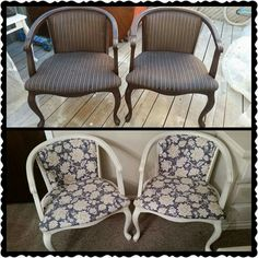 Refinished accent chairs
