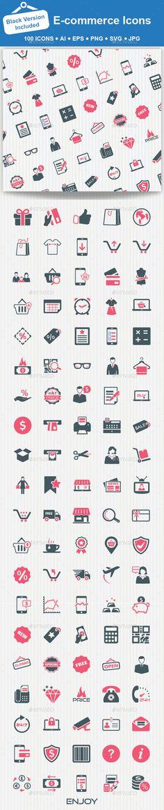 100 E-commerce Icons #design Download…