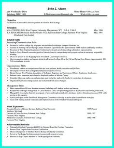 find this pin and more on resume sample template and format college application - College Admissions Resume Template