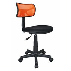 Heavy Duty Office Chair With Orange Back
