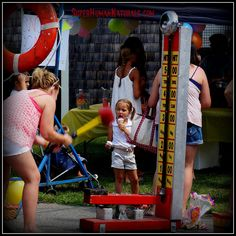 7-30-2014  Feats of Strength ~ Friendship Day ice cream and carnival fun. *** POSTCARDS FROM FRIENDSHIP. A pic a day served fresh daily from Friendship Maine. SuperHumanNaturals.com *** #toothsoap #cure #cankersores