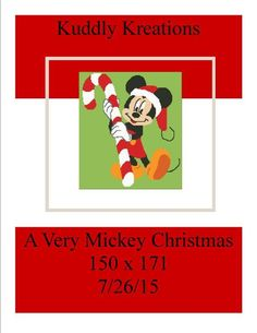 Looking for your next project? You're going to love Mickey Mouse Christmas 150 x 171 by designer Shell Cox. - via @Craftsy