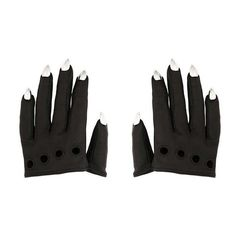 THE ENVY GLOVES MAJESTY BLACK ($595) ❤ liked on Polyvore featuring accessories, gloves, knuckle gloves and short gloves