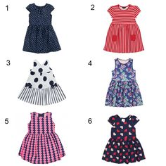 Under £5 dresses for the little girl who won't wear anything else.
