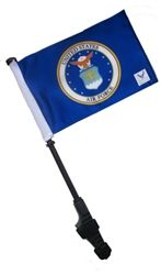 Small LICENSED AIR FORCE COAT OF ARMS Golf Cart Flag and Pole.  Buy it @ ReadyGolf.com