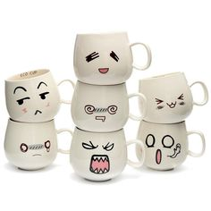 Emoticon Small Ceramic Mug