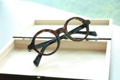 Thick Round Oval eyeglasses Tortoise Color Retro Style