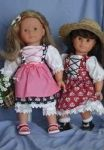 Trachtenkleider für Puppen