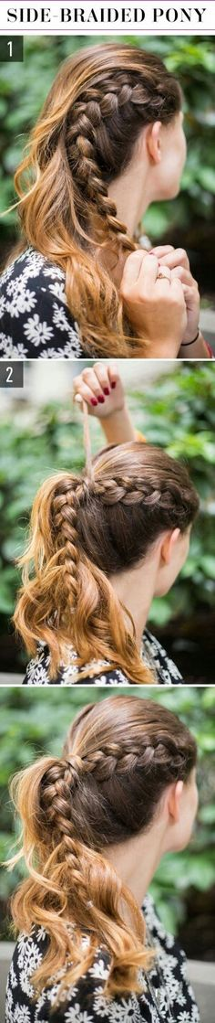 Idée Tendance Coupe & Coiffure Femme 2018 : : 15 Super Easy Hairstyles for 2017 - Three Step Hairstyles for Girls - Flashmode Belgium Lazy Girl Hairstyles, Super Easy Hairstyles, Easy Hairstyles For School, Top Hairstyles, Summer Hairstyles, Pretty Hairstyles, Braided Hairstyles, Braided Ponytail, Wedding Hairstyles