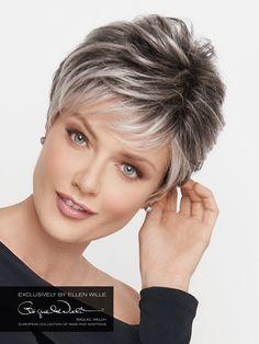 Resultado de imagem para short hair styles for women over 50 gray hair – Hair Styles For Women Over 50, Short Hair Cuts For Women, Medium Hair Styles, Short Hair Styles, Chic Short Hair, Short Grey Hair, Gray Hair, Haircut For Older Women, Short Hairstyles For Women