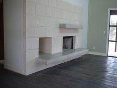concrete fireplace austin