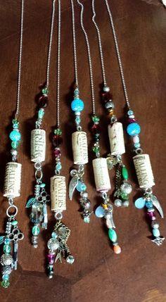 Wine Cork Jewelry, Wine Cork Art, Wine Cork Crafts, Wine Bottle Crafts, Wine Bottle Corks, Bottles, Wine Cork Ornaments, Wine Cork Projects, Wine Charms