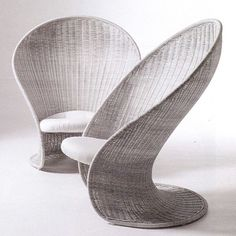 1968 #GiovanniTravasa for #VittorioBonacina rattan armchairs