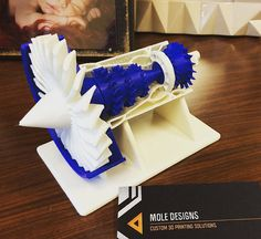 3D printed GE jet engine by MoleDesigns on Etsy