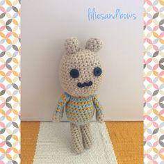 Crochet bunny doll by liliesandbows