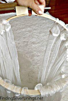 curtains on hoop