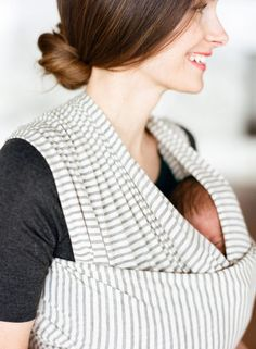 Stripe Organic Cotton Blend Baby Wrap by Solly Baby  HIGHLY RECOMMENDED