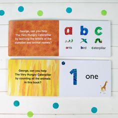 Personalised Very Hungry Catepillar Board Books Dual Box-Set