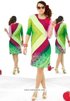 Magnificent Multicolor Party Wear Cotton Printed Top