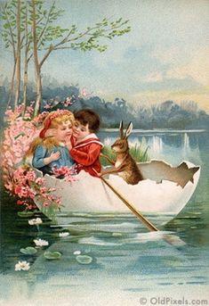 Vintage Easter by iris-flower