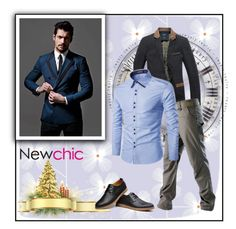 """""""NEWCHIC.COM 2/19"""" by blagica92 ❤ liked on Polyvore featuring men's fashion and menswear"""