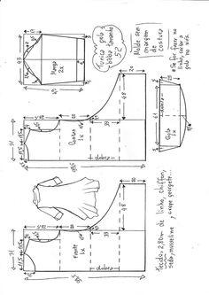Túnica gola boba manga 3/4 | DIY - molde, corte e costura - Marlene Mukai