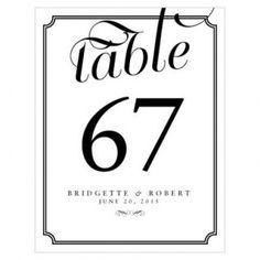 Numero de table avec bordure, mariage-original.com