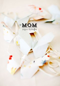 Origami Butterflies + A Tea Party for Mother's Day