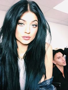 Kylie Jenner wearing Solotica contact lenses in Hidrocharme Crystal available at luxelenses.com