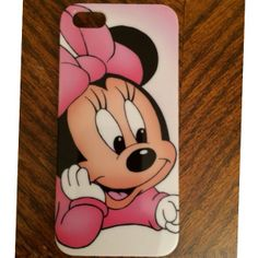 Pretty in Pink Baby Minnie Hard Case iPhone 5/5S   - Cute as  a button in soft pink and white color  Item 146  (FREE U.S. SHIPPING!)